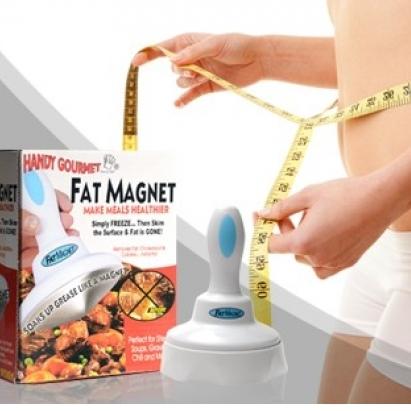 Dispositivo magnético retira gorduras