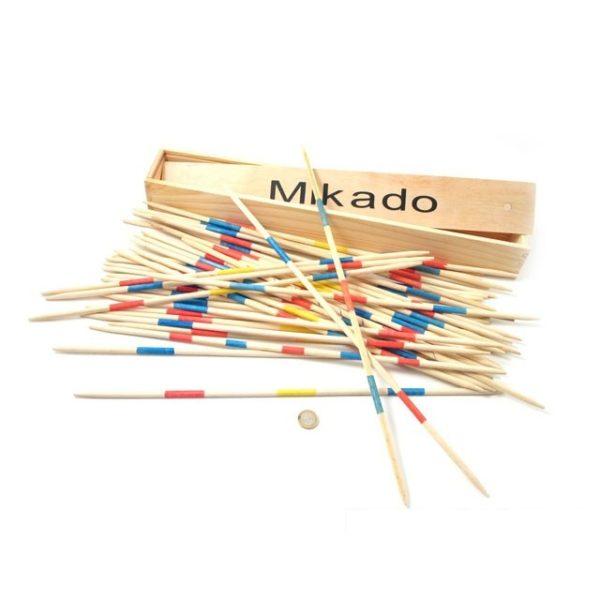Jogo do Mikado em caixa de madeira