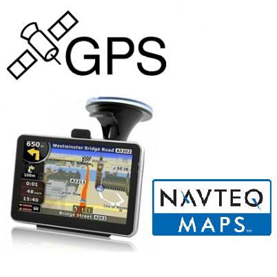 GPS de 4,3 polegadas com 50 Mapas