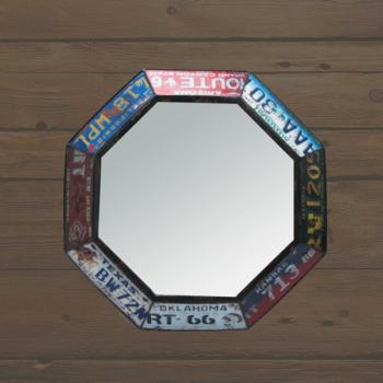 Espelho Redondo Vintage Matriculas