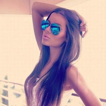 Óculos de sol Espelhados Aviator