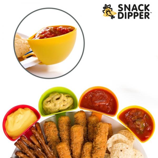 Set de 4 recipientes para molhos adaptáveis a pratos