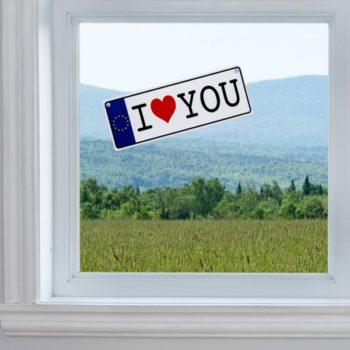 Matrícula I Love You c/ Ventosa