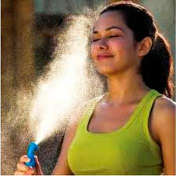 Vaporizador Resfriador Portátil c/ spray de Água