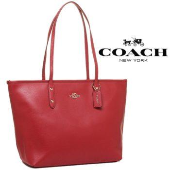 Mala Coach City Zip Tote Ruby