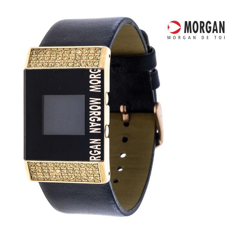 Relógio de Pulso Morgan Dourado c/ Pedraria